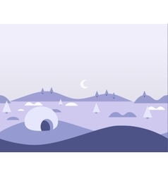 Seamless cartoon nature arctic landscape vector