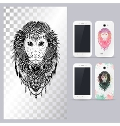Black and white animal monkey head vector