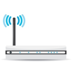 Wireless wi-fi router on white background vector