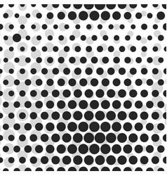 abstract dotted halftone background monocrome vector image vector image