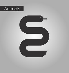 Black and white style icon snake vector