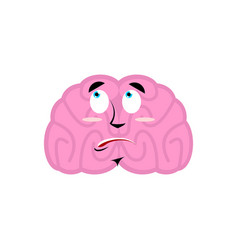 Brain surprised emotion human brains emoji vector