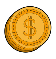 Coins dollar money currency cash vector