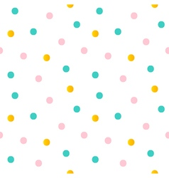 Dotted seamless pattern background vector image vector image