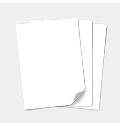 Empty paper sheet set vector image vector image