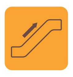 Escalator staircase icon vector