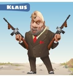 Fictional character - bandit Klaus vector image vector image