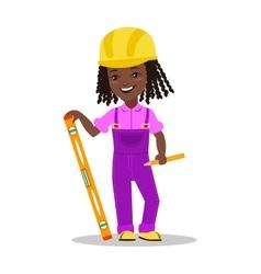 Girl builder character vector image vector image