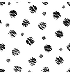 hand drawn seamless pattern isolated on white vector image
