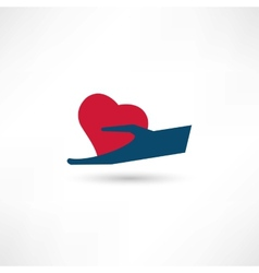 Love for man icon vector