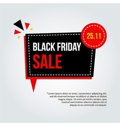 Modern trendy black friday sale card poster vector