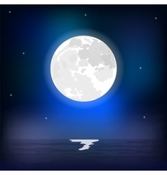 Night seascape during a full moon vector image vector image