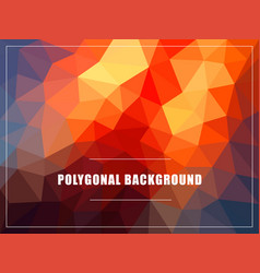 polygonal background mock-up vector image