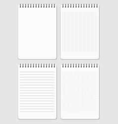 realistic notebooks page collection - lined and vector image