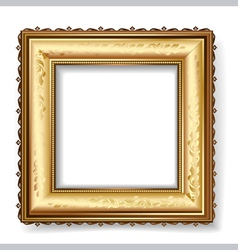 retro frame with gold leaf vector image vector image