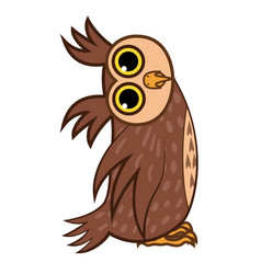 Set isolated emoji character cartoon owl asks the vector