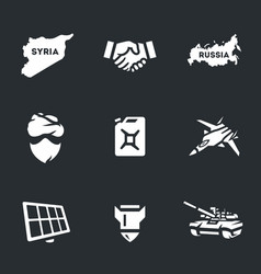Set of antiterrorist operation icons vector