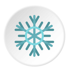 Snowflake icon circle vector