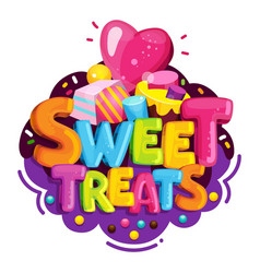 sweet treats vector image vector image
