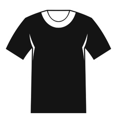 Tshirt icon simple style vector