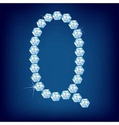vector diamond alphabet lette q vector image