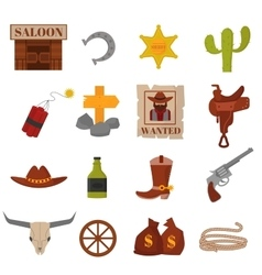 Vintage american old western designs sign and vector
