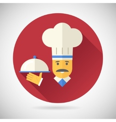 Vintage Chief Cook Serving Dish Symbol tongue vector image vector image