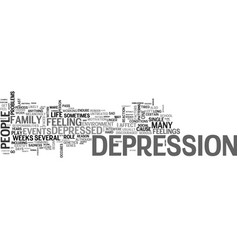 Why do people get depressed text word cloud vector