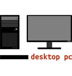 - desktop pc vector
