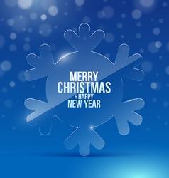 Christmas design with glass snowflake vector image