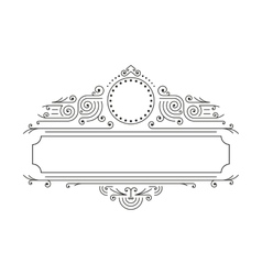 floral frames in mono line style with copy vector image