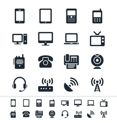 Communication device icons vector