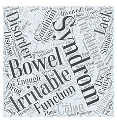 Irritable bowel syndrom word cloud concept vector
