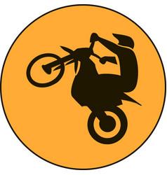 Motocross enduro free-ride sign vector