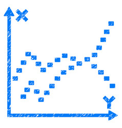 Dotted functions plot grunge icon vector