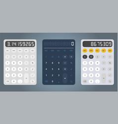 Calculator design template vector