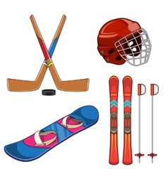 Winter sports collection vector