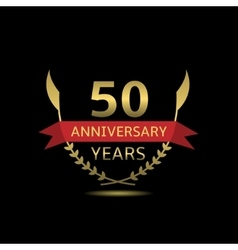 50 anniversary years vector