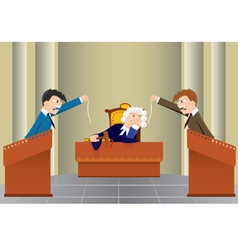 Cartoon judicial sitting vector