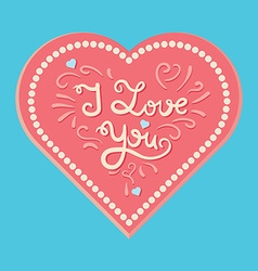 Valentine and wedding love card vector