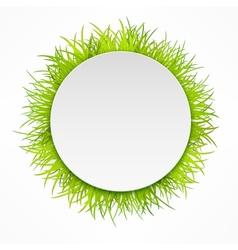 Round grass icon vector