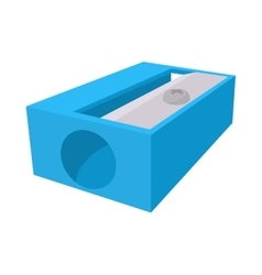 Blue pencil sharpener icon cartoon style vector