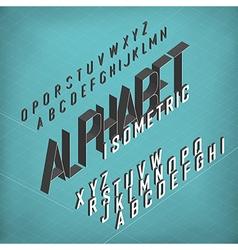 Isometric alphabet blueprint abstract background vector