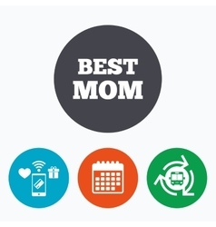 Best mom sign icon award symbol vector