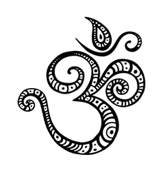 Aum Om symbol vector image vector image