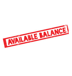 Available balance rubber stamp vector