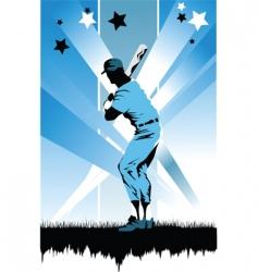 baseball batter vector image vector image