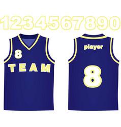 Basketball jersey vector