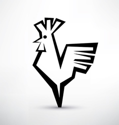 cock symbol stylized icon vector image