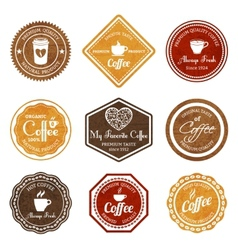 Coffee retro labels set vector image vector image